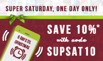 Super Saturday promo - Save Ten Percent