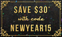 Save $30 with code NewYear2014